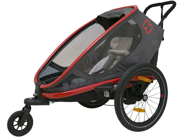 Hamax Outback One Fietstrailer, red/charcoal